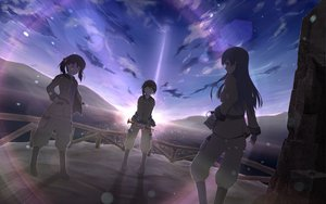 Rating: Safe Score: 39 Tags: ahirun brown_hair instrument kazumiya_rio sora_no_woto sorami_kanata suminoya_kureha uniform User: HawthorneKitty