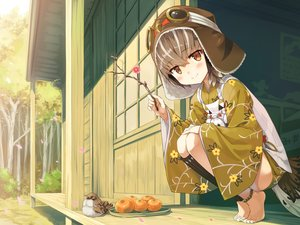 Rating: Safe Score: 48 Tags: animal ayakashi_kyoushuutan bird blue_eyes brown_hair building cura food forest fruit goggles hat hiyo_(ayakashi_kyoushuutan) japanese_clothes orange_(fruit) short_hair tree User: Nepcoheart