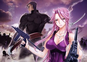 Rating: Questionable Score: 69 Tags: cleavage highschool_of_the_dead pink_hair scan tagme_(character) User: matapandas