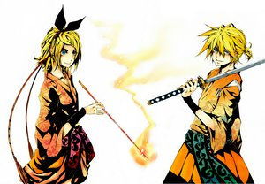 Rating: Safe Score: 28 Tags: kagamine_len kagamine_rin vocaloid User: HawthorneKitty