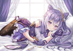 Rating: Safe Score: 112 Tags: dress genshin_impact gloves keqing_(genshin_impact) long_hair nowsicaa pantyhose purple_eyes purple_hair twintails User: BattlequeenYume