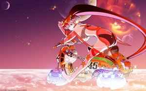 Rating: Safe Score: 114 Tags: motorcycle sky tengen_toppa_gurren_lagann yoko_littner User: 秀悟