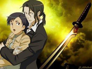 Rating: Safe Score: 8 Tags: blood_(anime) haji otonashi_saya sword vampire weapon User: abdo1727
