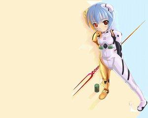 Rating: Safe Score: 24 Tags: ayanami_rei bodysuit mikazuki_akira neon_genesis_evangelion skintight spear trimoon weapon User: Oyashiro-sama