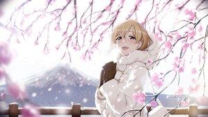 Rating: Safe Score: 64 Tags: aiba_yumi aliasing blonde_hair blush casino_(artist) flowers gloves idolmaster idolmaster_cinderella_girls pink_eyes short_hair snow winter User: BattlequeenYume