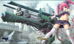 Rating: Safe Score: 179 Tags: building green_eyes gun koruri original panties pink_hair ruins thighhighs underboob underwear weapon User: Dust