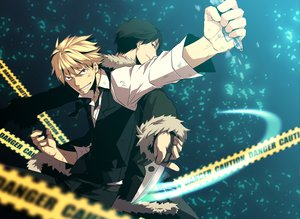 Rating: Safe Score: 19 Tags: black_hair blonde_hair durarara!! heiwajima_shizuo orihara_izaya User: mikucchi