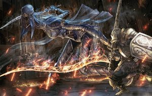 Rating: Safe Score: 5 Tags: armor dark_souls fire popobobo sword tagme_(character) weapon User: mattiasc02