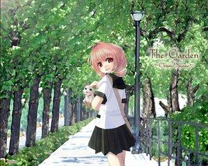 Rating: Safe Score: 12 Tags: animal cat green landscape logo naruse_chisato scenic school_uniform User: Oyashiro-sama