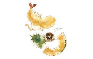 Rating: Safe Score: 8 Tags: animal cat food hakuchizu_(jedo) nobody original polychromatic signed watermark User: otaku_emmy