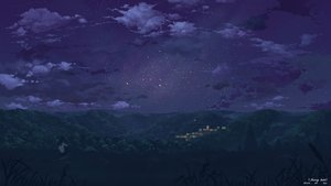 Rating: Safe Score: 111 Tags: clouds landscape long_hair night original scenic seifuku sky stars yuuko-san User: Flandre93