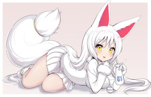 Rating: Safe Score: 38 Tags: animal_ears drink foxgirl kemono_friends long_hair oinari-sama_(kemono_friends) ransusan sake skirt tail white_hair yellow_eyes User: BattlequeenYume