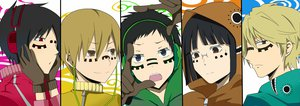 Rating: Safe Score: 32 Tags: durarara!! group headphones heiwajima_shizuo kida_masaomi male matryoshka_(vocaloid) orihara_izaya parody ryuugamine_mikado short_hair sonohara_anri User: Katsumi