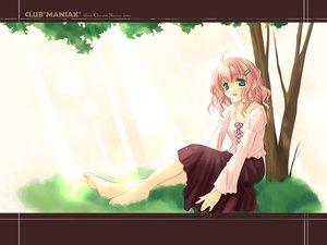 Rating: Safe Score: 14 Tags: barefoot blonde_hair choker club_maniax grass green_eyes naruse_chisato skirt tree User: Oyashiro-sama
