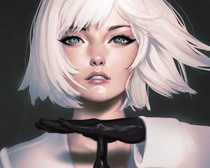 Rating: Safe Score: 135 Tags: close cropped gloves gray_eyes ilya_kuvshinov original realistic short_hair white_hair User: mattiasc02