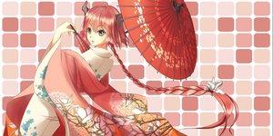 Rating: Safe Score: 67 Tags: braids deanna horns japanese_clothes kimono long_hair original red_eyes red_hair umbrella User: Flandre93