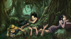 Rating: Safe Score: 39 Tags: barefoot black_hair blonde_hair book dress flowers forest goggles grass monkey_d_luffy nico_robin one_piece ponytail portgas_d_ace sabo short_hair tree User: earl-phantomhive