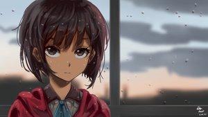 Rating: Safe Score: 39 Tags: brown_eyes brown_hair clouds koutetsujou_no_kabaneri mumei_(kabaneri) rain rosuke97 short_hair signed sky water wet User: BattlequeenYume