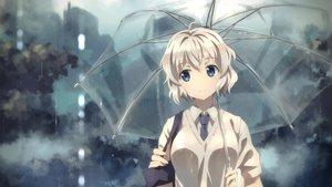 Rating: Safe Score: 136 Tags: original rain seifuku umbrella water white_hair yuuki_tatsuya User: Flandre93