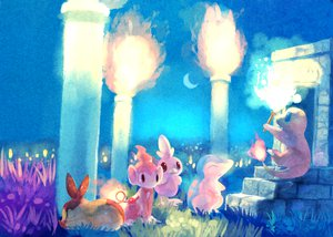 Rating: Safe Score: 51 Tags: charmander chimchar cyndaquil fire grass group moon pokemon sleeping tagme_(artist) tail tepig torchic User: w7382001