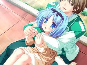 Rating: Safe Score: 32 Tags: blue_eyes blue_hair blush bow game_cg kujou_yuuka magus_tale school_uniform short_hair tail tenmaso whirlpool User: Oyashiro-sama