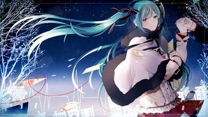 Rating: Safe Score: 78 Tags: aqua_hair bow hatsune_miku long_hair twintails vocaloid yori_(y_rsy) User: Flandre93