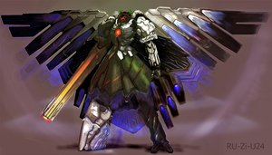 Rating: Safe Score: 73 Tags: arugeri mecha reiuji_utsuho touhou weapon wings User: 02