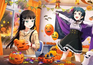 Rating: Safe Score: 37 Tags: halloween kurosawa_dia love_live!_school_idol_project love_live!_sunshine!! tagme_(artist) tsushima_yoshiko User: RyuZU