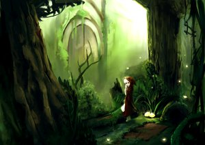 Rating: Safe Score: 32 Tags: forest green little_red_riding_hood red_riding_hood relax tree white_hair User: SonicBlue