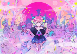 Rating: Safe Score: 26 Tags: cross dress moon original pink_eyes pink_hair polychromatic teracoot User: otaku_emmy