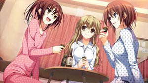 Rating: Safe Score: 70 Tags: 3girls brown_hair game_cg koi_de_wa_naku long_hair makishima_yumi pajamas short_hair tomose_shunsaku uto_mitsuki yano_konoka User: Wiresetc
