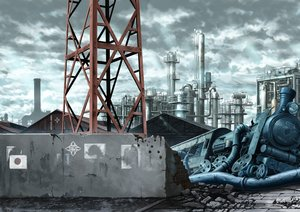 Rating: Safe Score: 34 Tags: clouds industrial nobody original ruins scenic sky train yacchino User: RyuZU