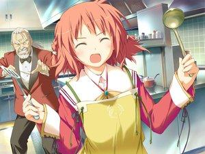Rating: Safe Score: 3 Tags: amagahara_inaho apron favorite game_cg happy_margaret! kokonoka User: 秀悟