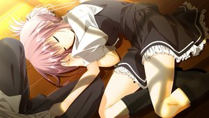 Rating: Safe Score: 82 Tags: game_cg sakura_no_uta sleeping tagme_(artist) toritani_makoto User: luckyluna