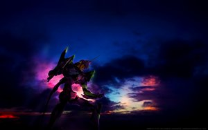 Rating: Safe Score: 22 Tags: clouds dark eva-01 mecha neon_genesis_evangelion sky watermark User: RyuZU