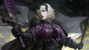 Rating: Safe Score: 32 Tags: armor blonde_hair buchuo_liu cape fate/grand_order fate_(series) gloves headdress jeanne_d'arc_alter jeanne_d'arc_(fate) realistic short_hair sword weapon yellow_eyes User: otaku_emmy