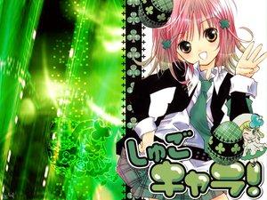 Rating: Safe Score: 49 Tags: green hinamori_amu jpeg_artifacts peach-pit pink_hair school_uniform short_hair shugo_chara suu_(shugo_chara) tie yellow_eyes User: Oyashiro-sama