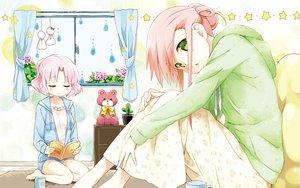 Rating: Safe Score: 153 Tags: cafe_sourire cuffs_(studio) eretto flowers green_eyes mizushima_kasumi mizushima_serika pink_hair teddy_bear User: opai