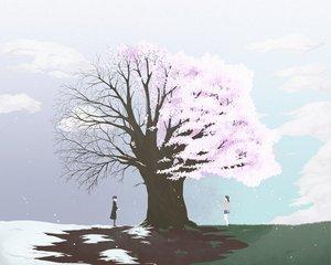 Rating: Safe Score: 18 Tags: cherry_blossoms clouds flowers sekai_seifuku_kanojo snow spring tree winter User: w7382001