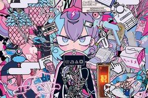 Rating: Safe Score: 31 Tags: animal bandaid crab original polychromatic purple_hair short_hair techgirl teracoot waifu2x User: otaku_emmy