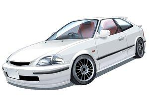 Rating: Safe Score: 17 Tags: arai_kogane car nobody original white User: RyuZU