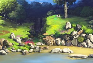 Rating: Safe Score: 116 Tags: dzun flowers grass landscape nobody scenic tree water waterfall User: Dzun