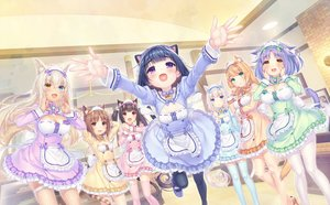 Rating: Safe Score: 75 Tags: animal_ears bicolored_eyes brown_hair catgirl chocola_(sayori) cinnamon_(sayori) coconut_(sayori) game_cg group loli long_hair maid maple_(sayori) minazuki_shigure nekopara neko_works sayori short_hair tail thighhighs twintails vanilla_(sayori) waitress white_hair User: BattlequeenYume