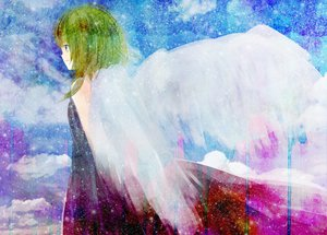 Rating: Safe Score: 28 Tags: green_hair gumi hinanosuke vocaloid wings User: HawthorneKitty