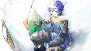Rating: Safe Score: 38 Tags: all_male blue_eyes blue_hair daidou_(demitasse) gloves kaito male scarf short_hair snow vocaloid User: FormX