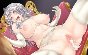 Rating: Explicit Score: 160 Tags: breasts censored crown cum elbow_gloves garter_belt gray_hair nipples original penis temutemutemu vagina wet User: Wiresetc