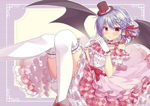 Rating: Safe Score: 48 Tags: beni_kurage bloomers braids dress hat red_eyes remilia_scarlet touhou vampire wings User: BattlequeenYume