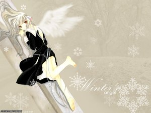 Rating: Safe Score: 6 Tags: chii chobits clamp snow wings User: Oyashiro-sama