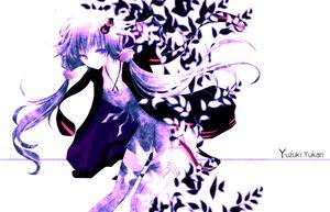 Rating: Safe Score: 60 Tags: aonoe hoodie polychromatic purple thighhighs twintails vocaloid voiceroid white yuzuki_yukari zettai_ryouiki User: MissBMoon