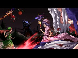 Rating: Safe Score: 38 Tags: blood flandre_scarlet godzilla hong_meiling izayoi_sakuya patchouli_knowledge remilia_scarlet touhou wings User: Tensa